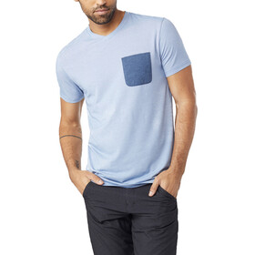 tentree Micro Boulder Pocket T-Shirt Men Delft Blue Micro Stripe